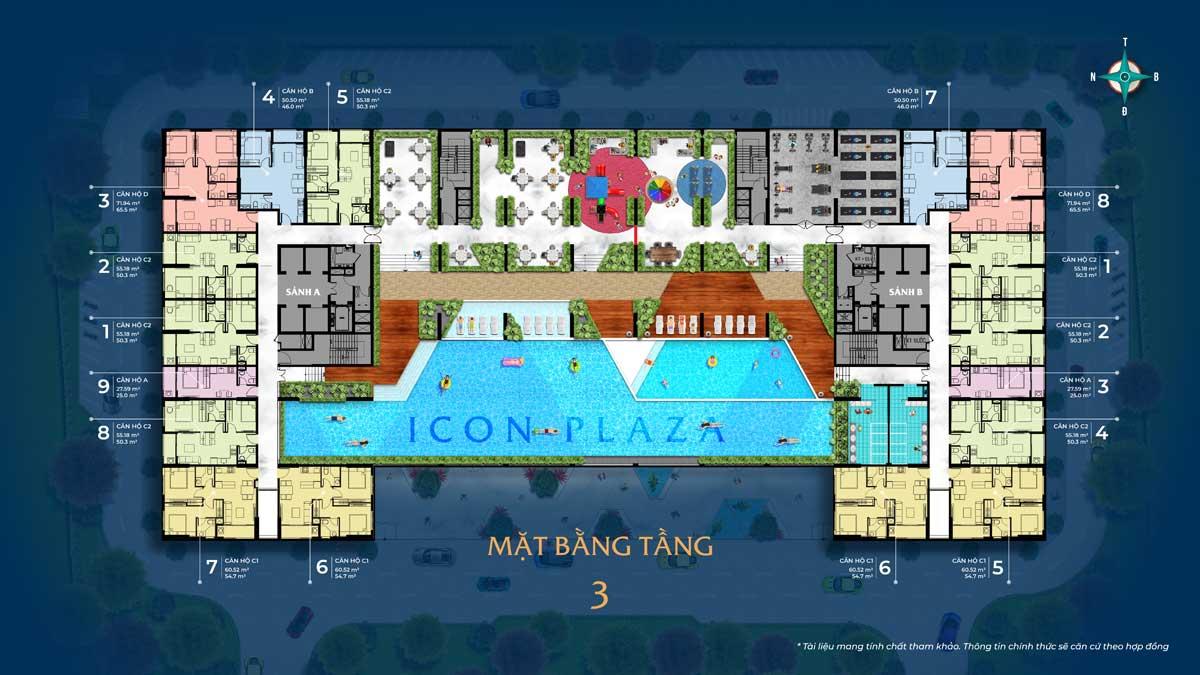 mat bang tang 3 icon plaza - ICON PLAZA BÌNH DƯƠNG