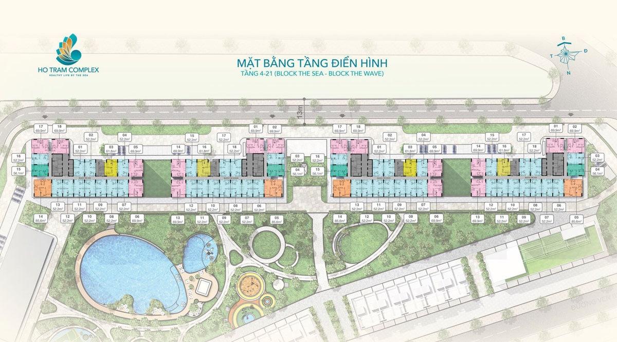 mat bang tang dien hinh du an ho tram complex - CĂN HỘ HỒ TRÀM COMPLEX