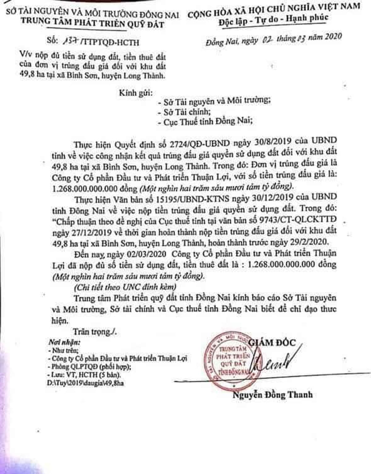 nop tien su dung dat du an century city - CENTURY CITY LONG THÀNH ĐỒNG NAI