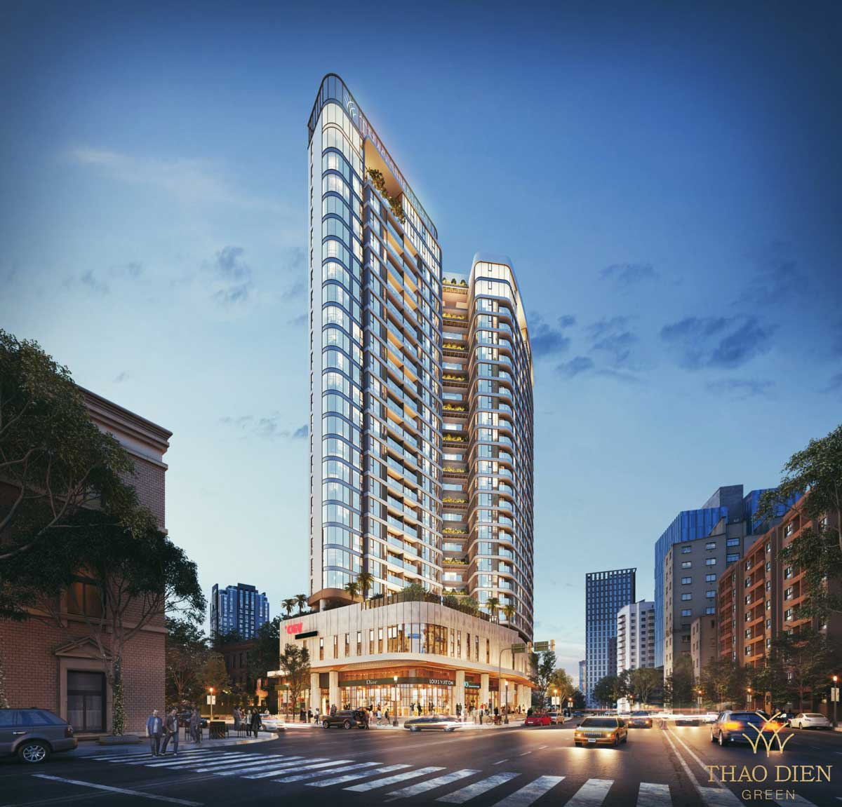 toan canh du an can ho thao dien green - Thảo Điền Green Towers Quận 2