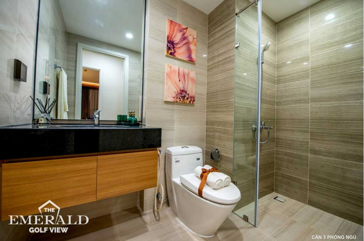 toilet can ho 3 phong ngu the emerald golf view - THE EMERALD GOLF VIEW BÌNH DƯƠNG