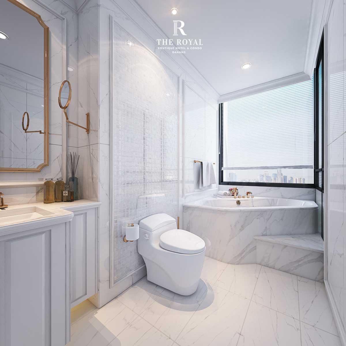 toilet can ho 3 phong ngu the royal da nang - DỰ ÁN CĂN HỘ THE ROYAL ĐÀ NẴNG