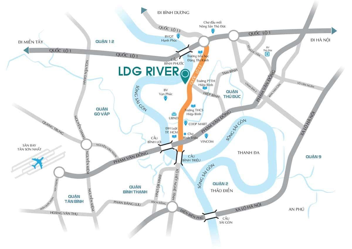 vi tri du an ldg river thu duc - LDG RIVER THỦ ĐỨC