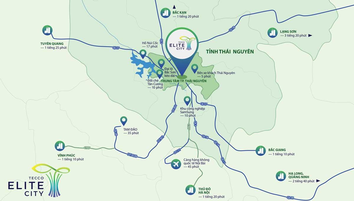 vi tri du an tecco elite city thai nguyen - TECCO ELITE CITY THÁI NGUYÊN