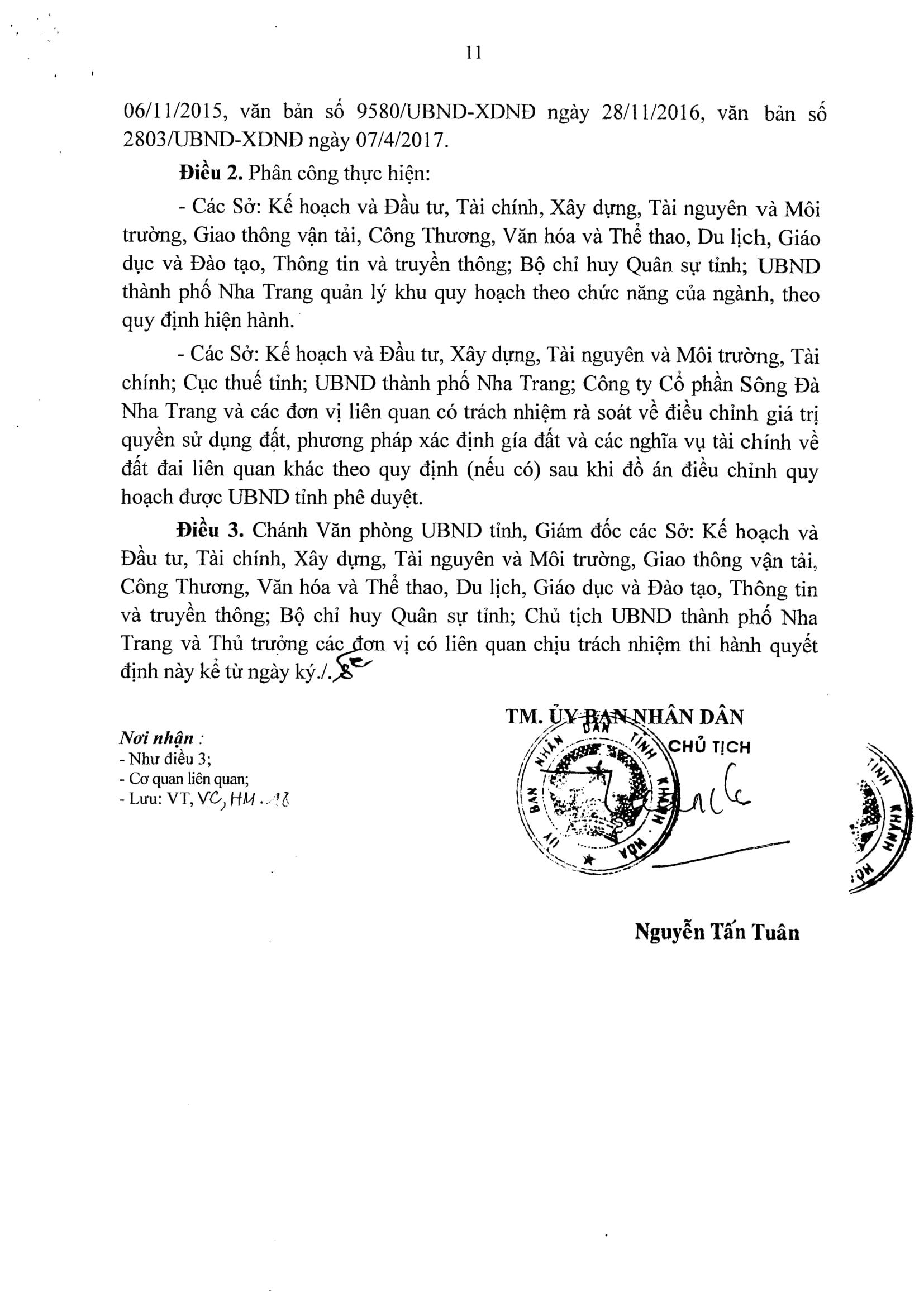 1 phần 500 dự án Khu Dân Cư Cồn Tân Lập 11 - Quy hoạch chi tiết tỷ lệ 1/500 Khu dân cư Cồn Tân Lập Nha Trang
