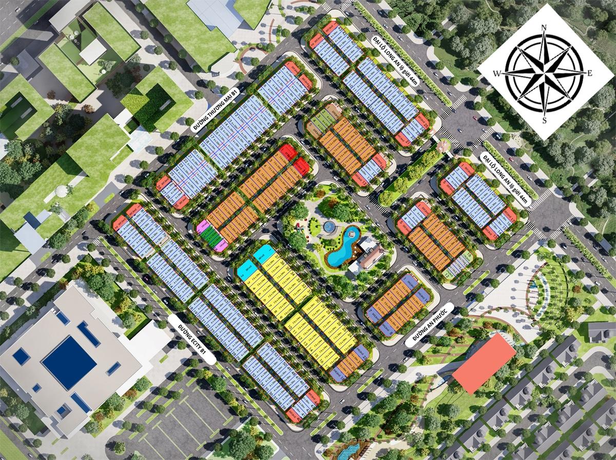 Mat bang phan lo An Khang Residence - PHỐ THƯƠNG MẠI AN KHANG RESIDENCE