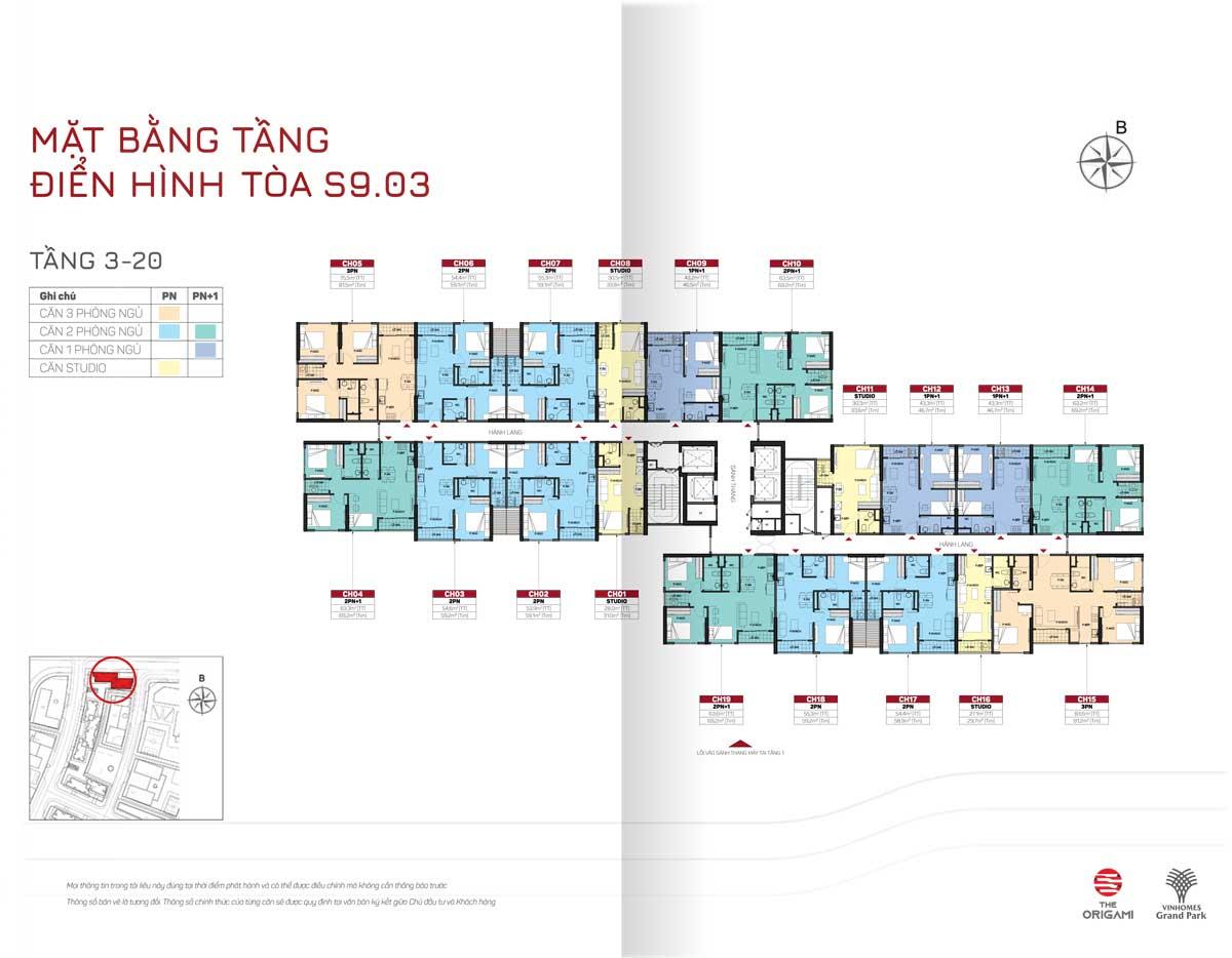 Mat bang tang toa S9 03 The Origami Vinhomes Grand Park - THE ORIGAMI