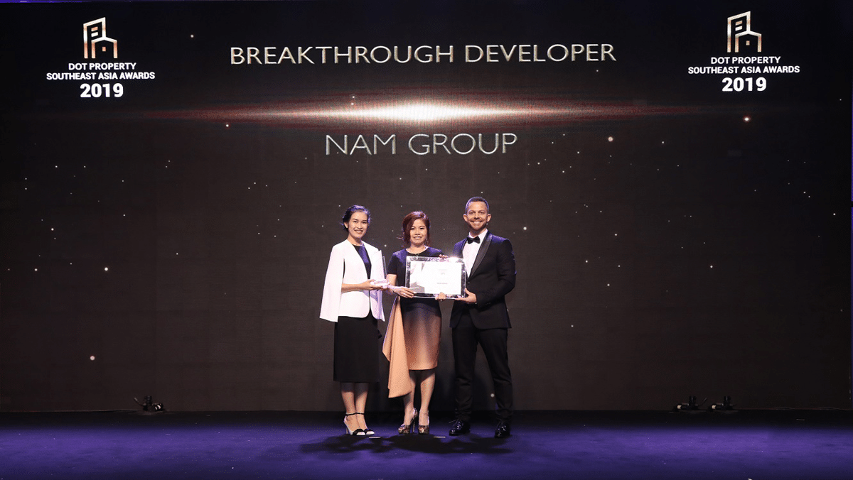 Nam Group thắng lớn tại Dot Property Southeast Asia Awards 2019 - NAM GROUP