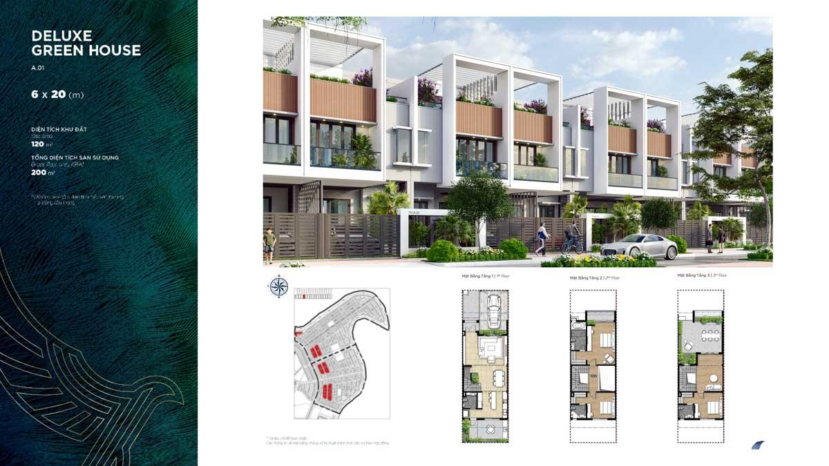 Thiết kế Biệt thự Deluxe Green House Đảo Phượng Hoàng Phoenix South Aqua City Đồng Nai - PHOENIX SOUTH