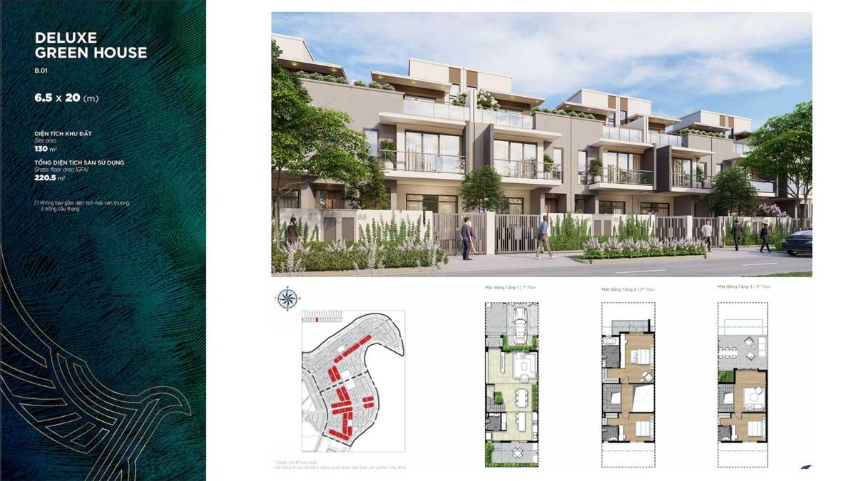 Thiết kế Biệt thự Deluxe Green House Đảo Phượng Hoàng Phoenix South Aqua City - PHOENIX SOUTH