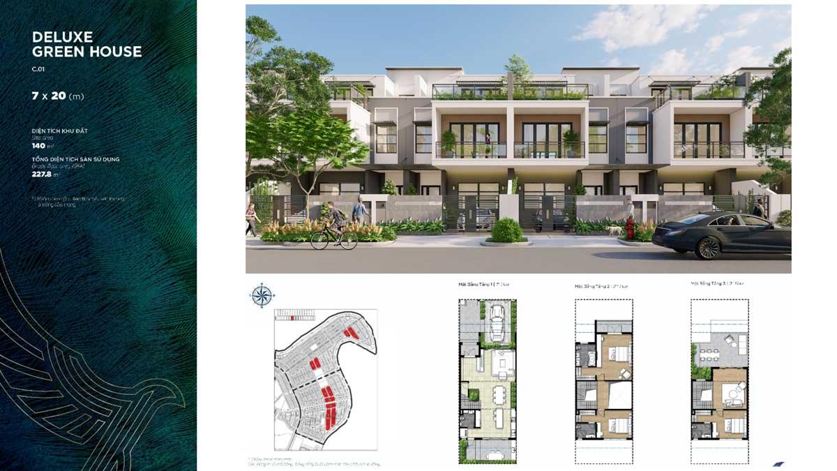 Thiết kế Biệt thự Deluxe Green House Đảo Phượng Hoàng Phoenix South - PHOENIX SOUTH