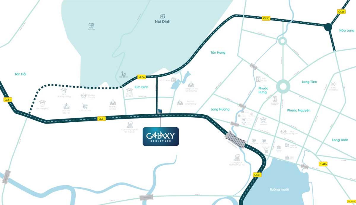 Vị trí Dự án đất nền Galaxy Boulevard - GALAXY BOULEVARD