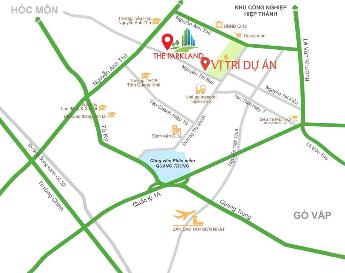 Vị trí Dự án Nhà ở Xã hội cho người có thu nhập thấp tại Phường Hiệp Thành Quận 12 - DỰ ÁN CĂN HỘ NHÀ Ở XÃ HỘI HIỆP THÀNH QUẬN 12
