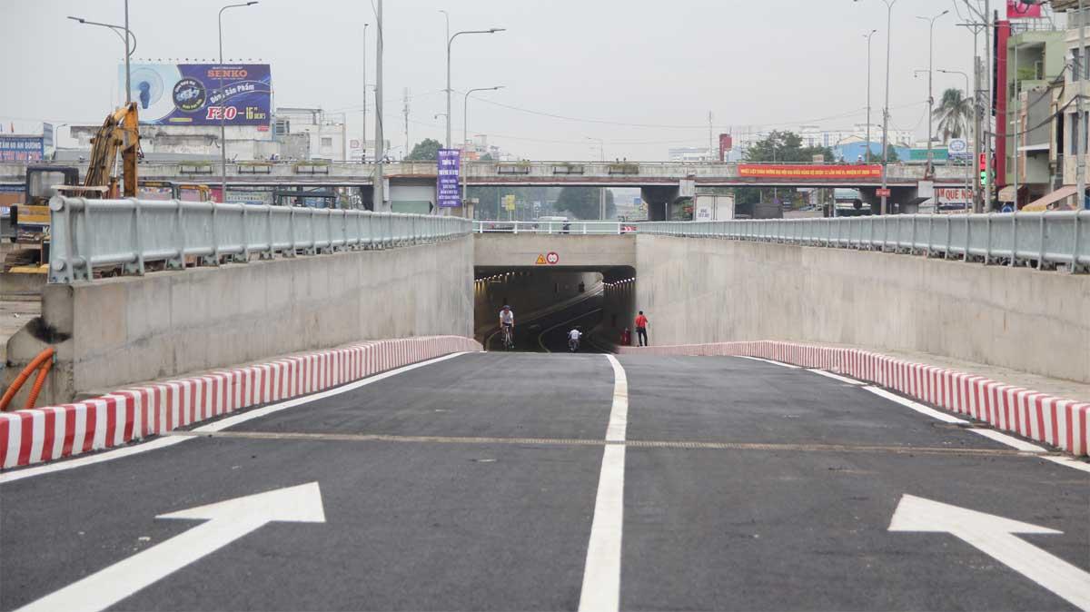 Chính thức thông xe hầm chui thứ 2 tại nút giao thông An Sương vào sáng ngày 15/7/2020