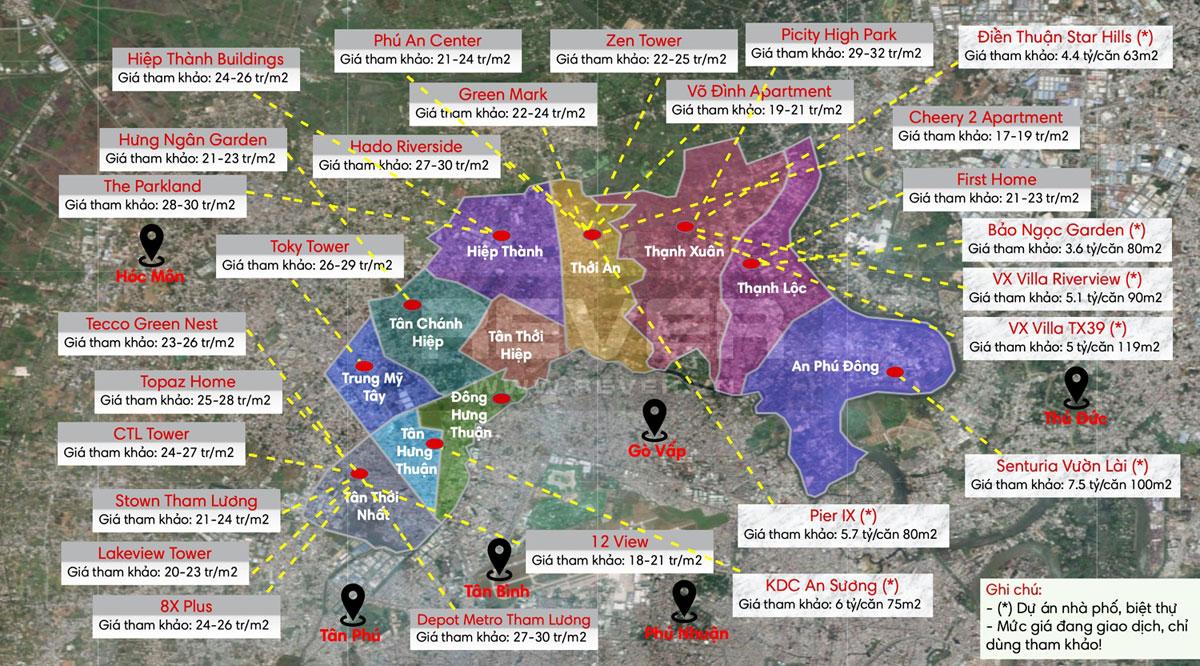 gia ban cac du an bat dong san tai quan 12 - Biên độ tăng giá Bất động sản Quận 12 còn rất lớn