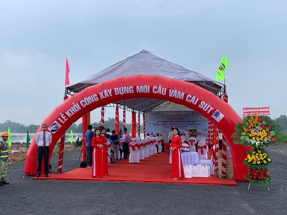 le khoi cong xay dung cau vam cai sut 1 - Khởi công xây dựng cầu Vàm Cái Sứt sông Đồng Nai