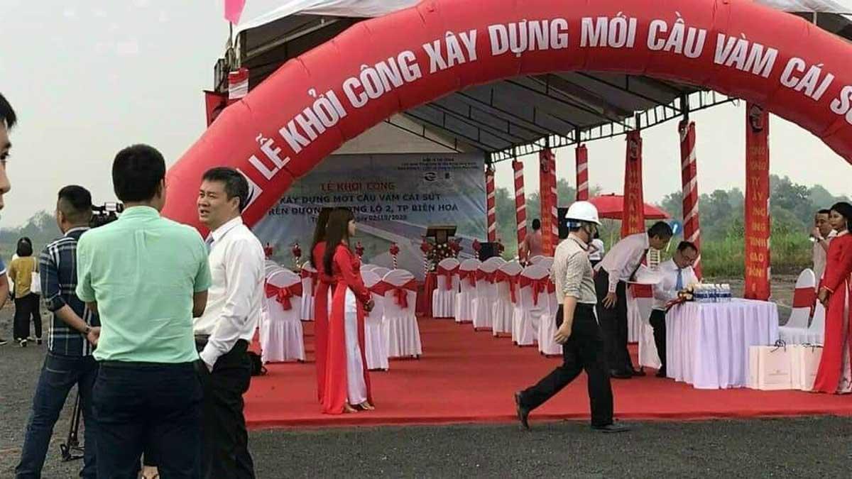 le khoi cong xay dung cau vam cai sut - Khởi công xây dựng cầu Vàm Cái Sứt sông Đồng Nai