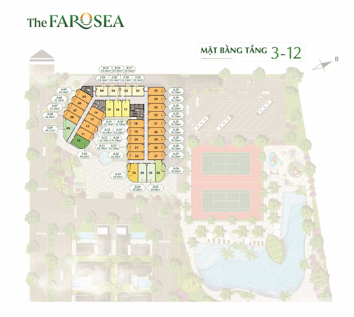 mat bagn tang 3 12 du an can ho the farosea - THE FAROSEA PHAN THIẾT
