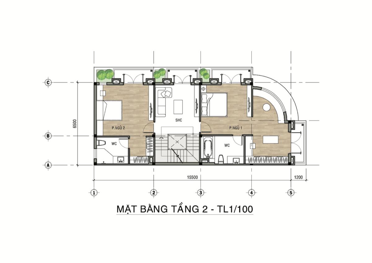 mat bang tang 2 valerich goc - DỰ ÁN SHOPHOUSE VÀ BIỆT THỰ VALERICH
