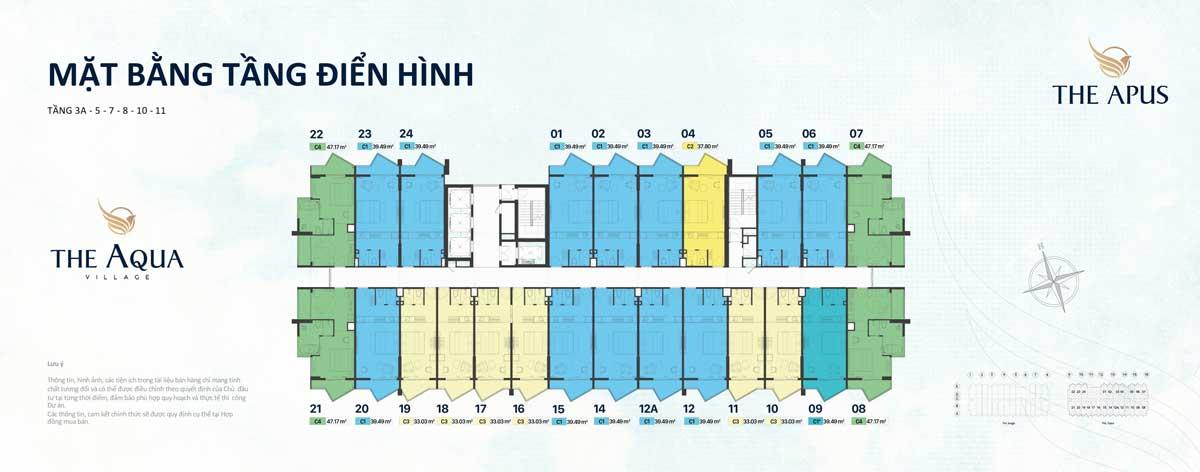 mat bang tang dien hinh The Aqua Village - THE APUS PHƯỚC HẢI