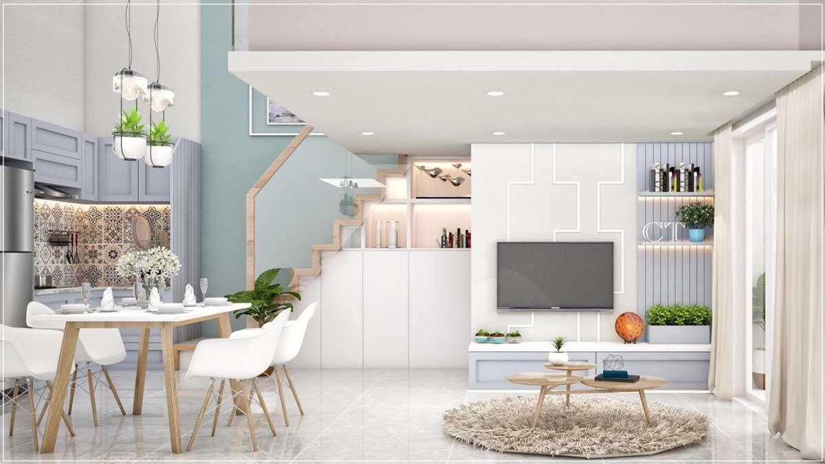 phòng khách căn hộ mini phú thuận quận 7 - KHU NHÀ Ở DỊCH VỤ PHÚ THUẬN QUẬN 7