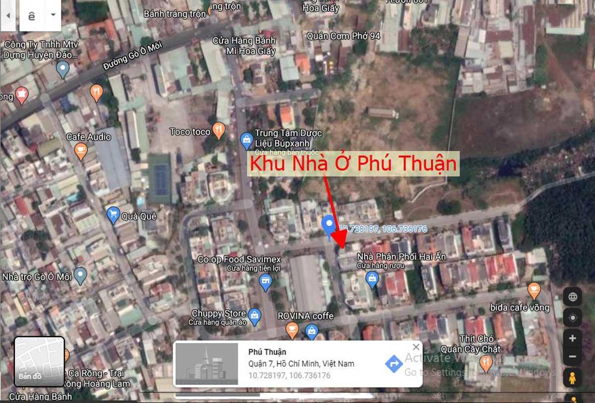 vị trí dự án căn hộ mini phú thuận quận 7 - KHU NHÀ Ở DỊCH VỤ PHÚ THUẬN QUẬN 7