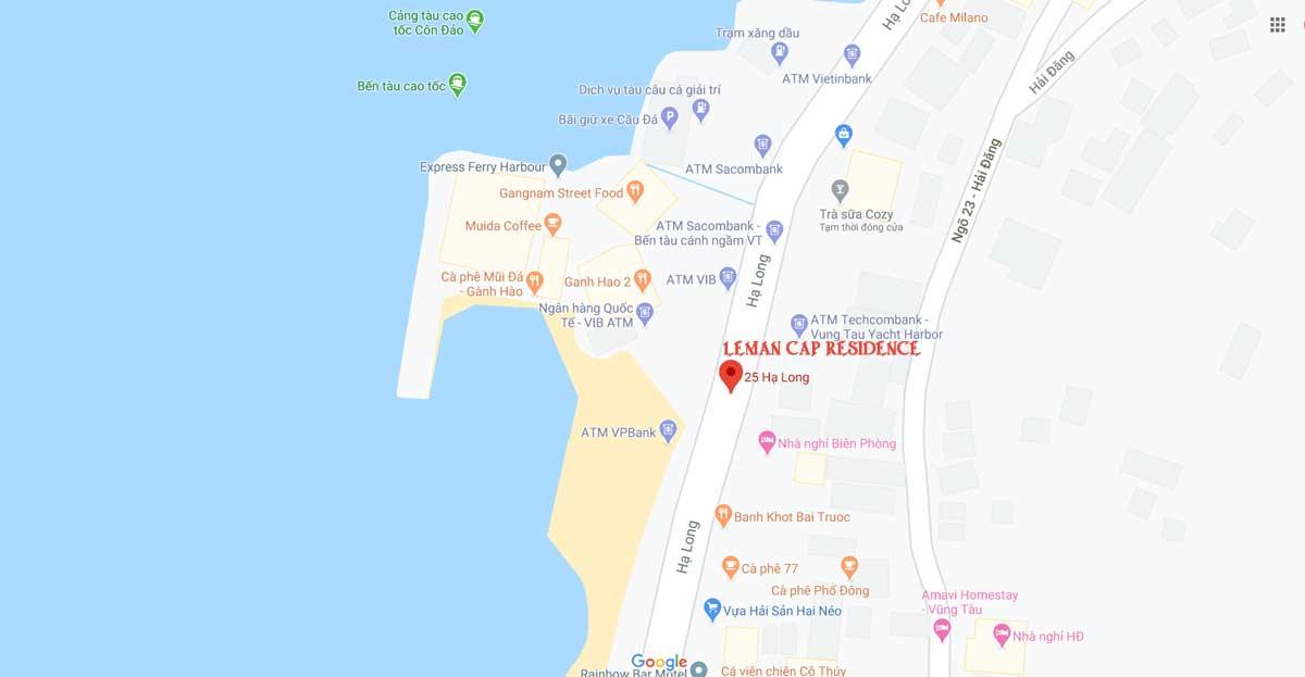 vị trí dự án léman cap residence vũng tàu - LÉMAN CAP RESIDENCE VŨNG TÀU