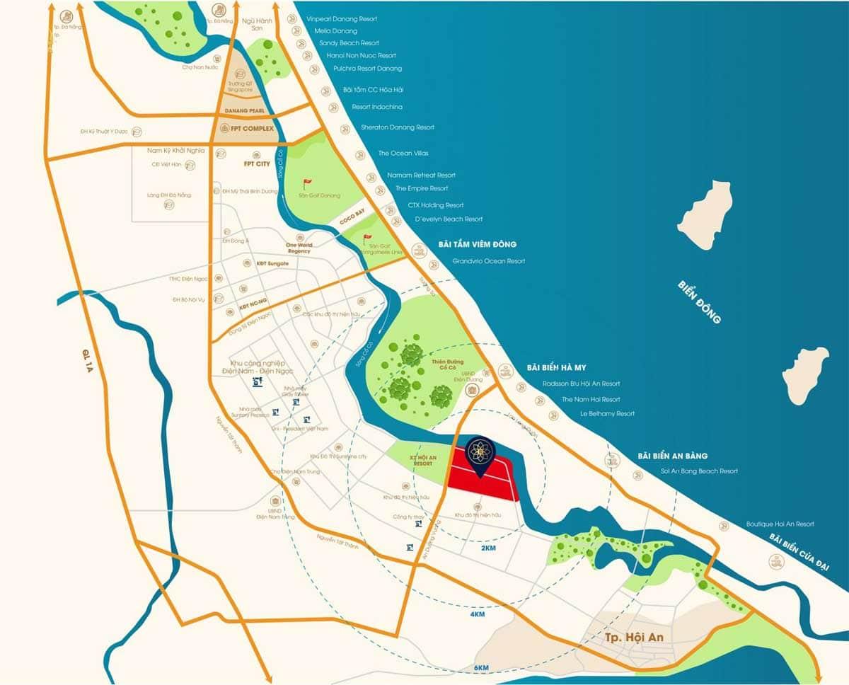 vi tri Rosa Riverside Complex - Rosa Riverside Complex Đà Nẵng