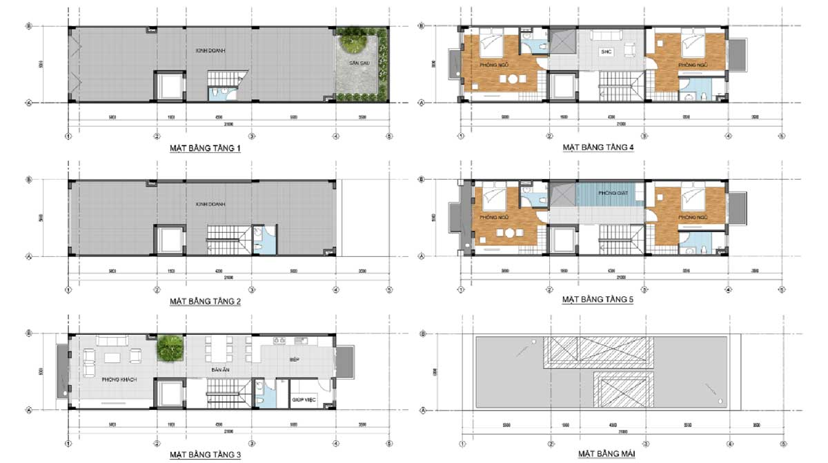Thiet ke Nha pho thuong mai 5mx21m tret 4 lau the centre house - THE CENTRE HOUSE NHƠN TRẠCH