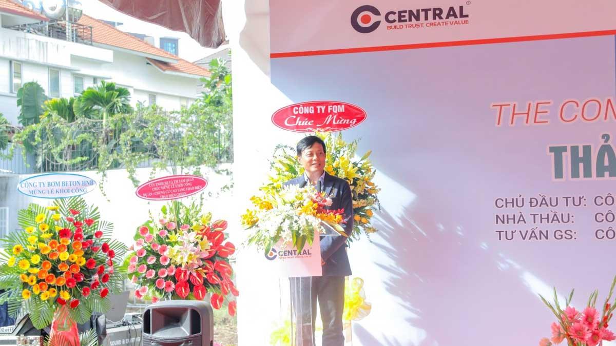 Trần Quang Tuấn phát biểu tại buổi lễ khởi công Dự án Thảo Điền Green Towers - Thảo Điền Green Towers Quận 2