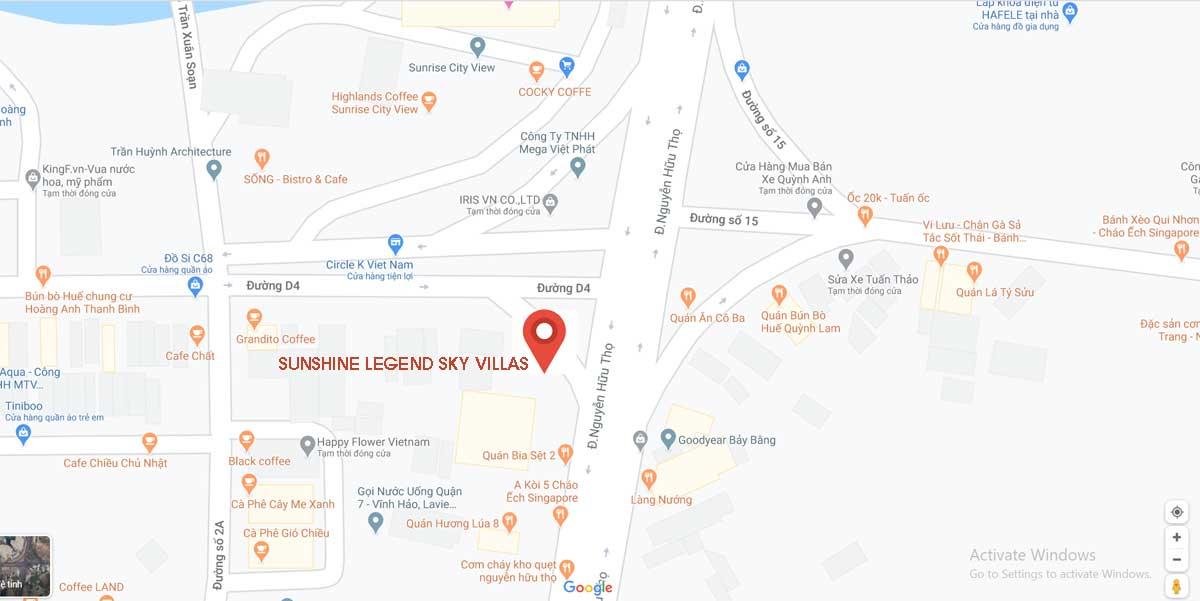 Vị trí Dự án Sunshine Legend Sky Villas - SUNSHINE LEGEND SKY VILLAS