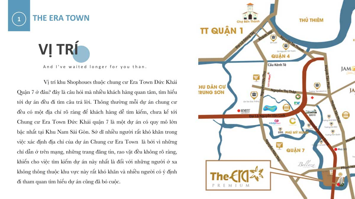 Vi tri Shophoues The Era Town - SHOPHOUSE THE ERA TOWN ĐỨC KHẢI QUẬN 7