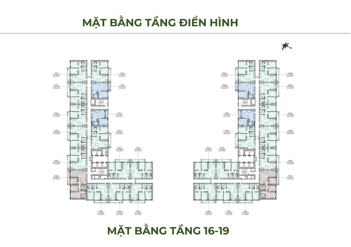 mat bang tang dien hinh tang 16 19 can ho anderson park - ANDERSON PARK BÌNH DƯƠNG