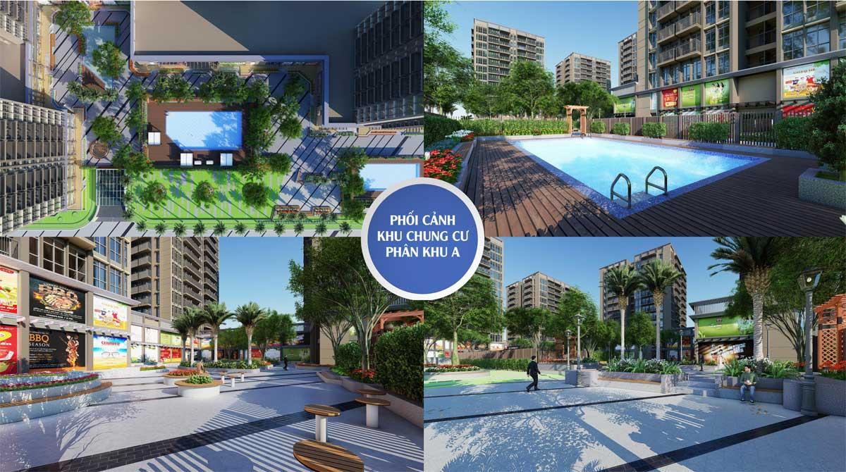 phoi canh tien ich khu A can ho chung cu the new city chau doc - THE NEW CITY CHÂU ĐỐC