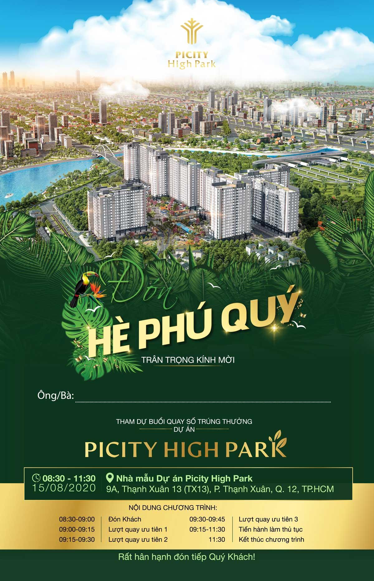 thu moi chuong trinh he phu quy cua du an picity high park - Chương trình Hè Phú Quý cùng Picity High Park