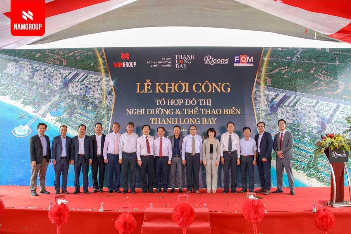 Dai dien Ban Lanh dao tinh Binh Thuan Nam Group va cac don vi doi tac chup anh luu niem - DỰ ÁN THANH LONG BAY PHAN THIẾT BÌNH THUẬN