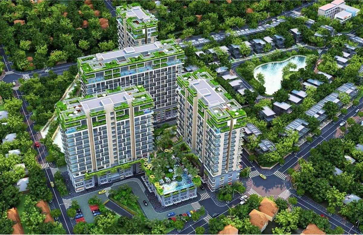 Phối cảnh Dự án Căn hộ Chung cư Dragon Sky View Quận 9