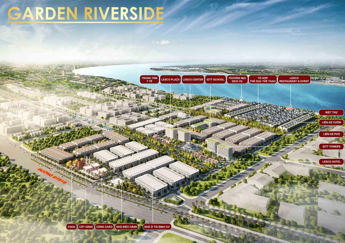 He thong tien ich noi khu Du an Garden Riverside Long An - GARDEN RIVERSIDE THỦ THỪA LONG AN