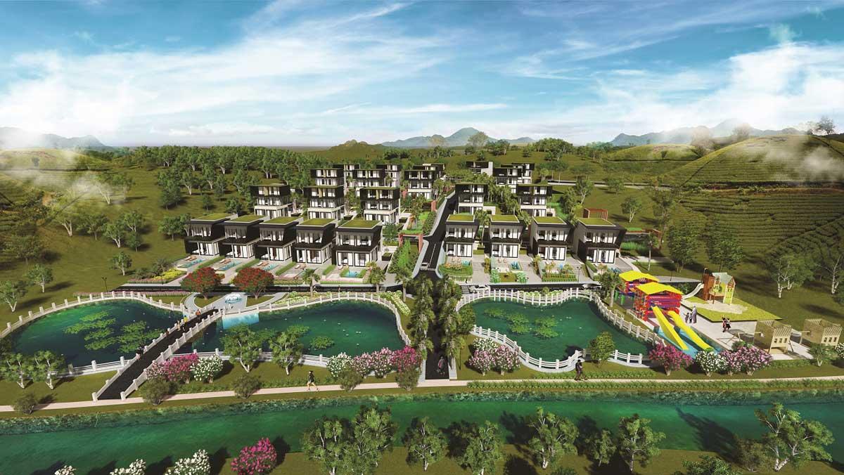 Phối cảnh Dự án Dambri Hill Village Bảo Lộc Lâm Đồng