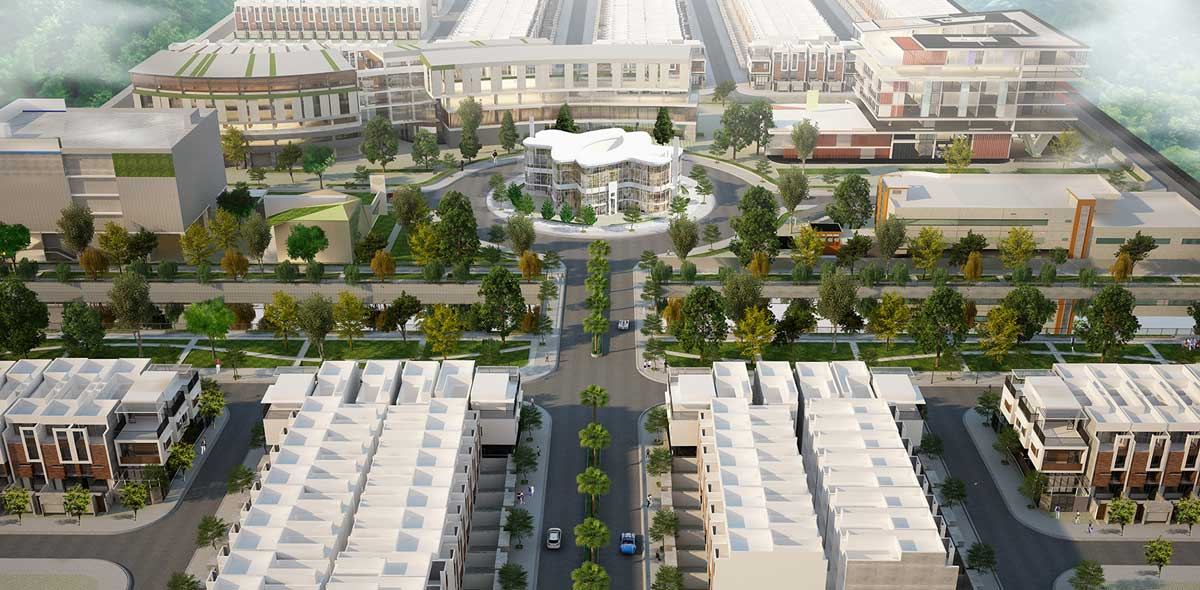 Quang truong trung tam The Center Square - GARDEN RIVERSIDE THỦ THỪA LONG AN