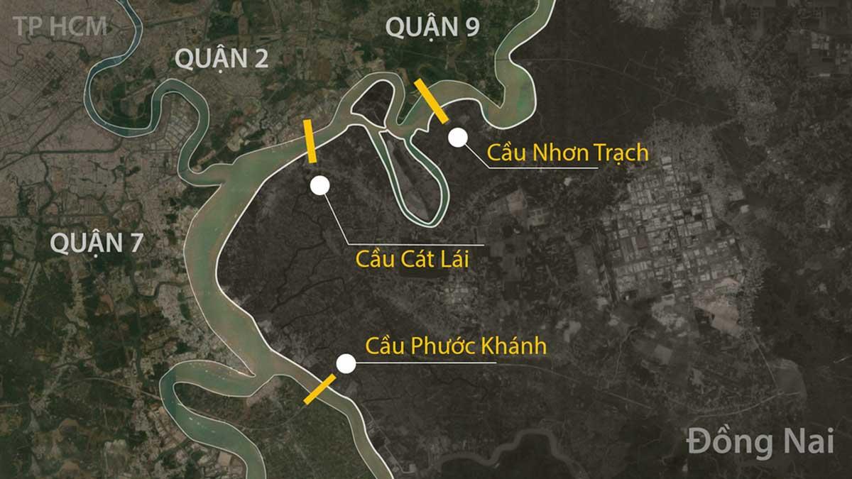 Vi tri Cau Nhon Trach noi TP.HCM va Dong Nai - Năm 2021 khởi công Dự án xây dựng cầu Nhơn Trạch nối TP.HCM và Đồng Nai