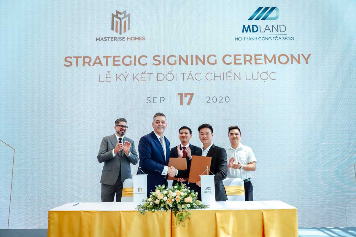 masterise homes ky hop tac voi mdland - MASTERI CENTRE POINT QUẬN 9