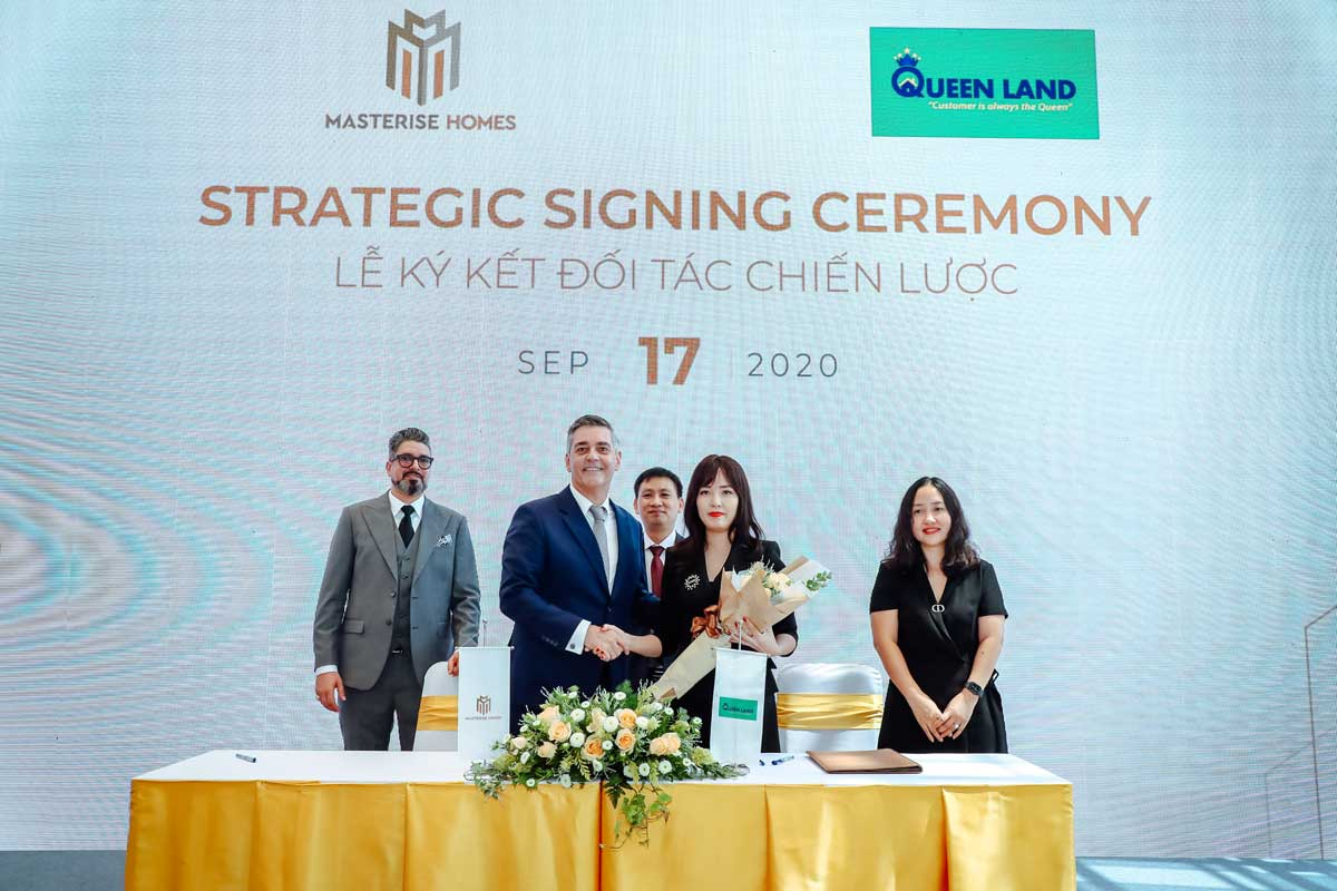 masterise homes ky hop tac voi queen land - MASTERI CENTRE POINT QUẬN 9