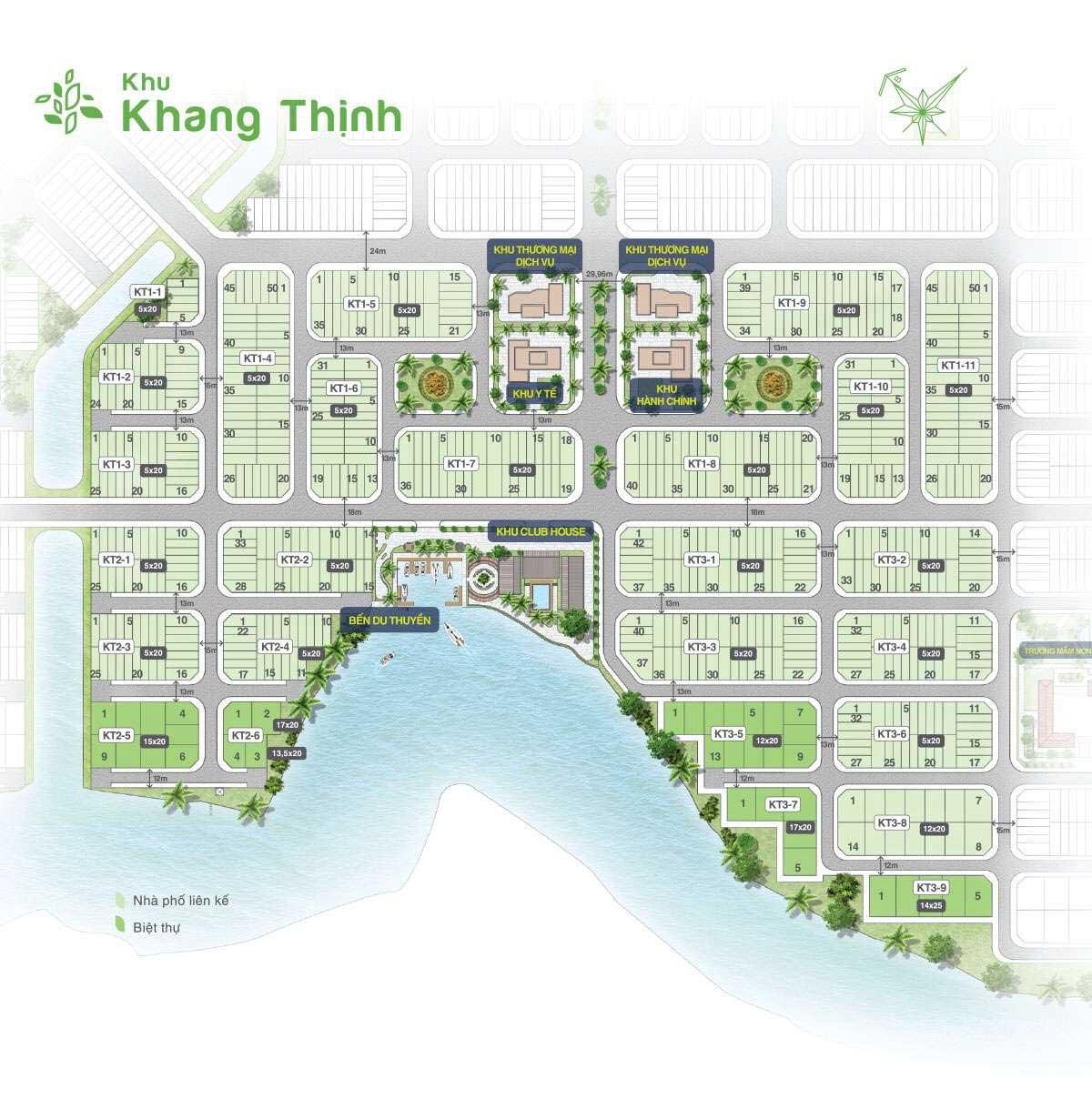 mat bang phan lo khu khang thinh bien hoa new city - BIỆT THỰ BIÊN HÒA NEW CITY