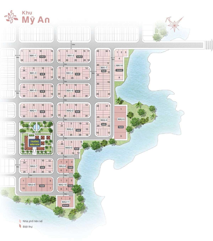 mat bang phan lo khu my an bien hoa new city - BIỆT THỰ BIÊN HÒA NEW CITY