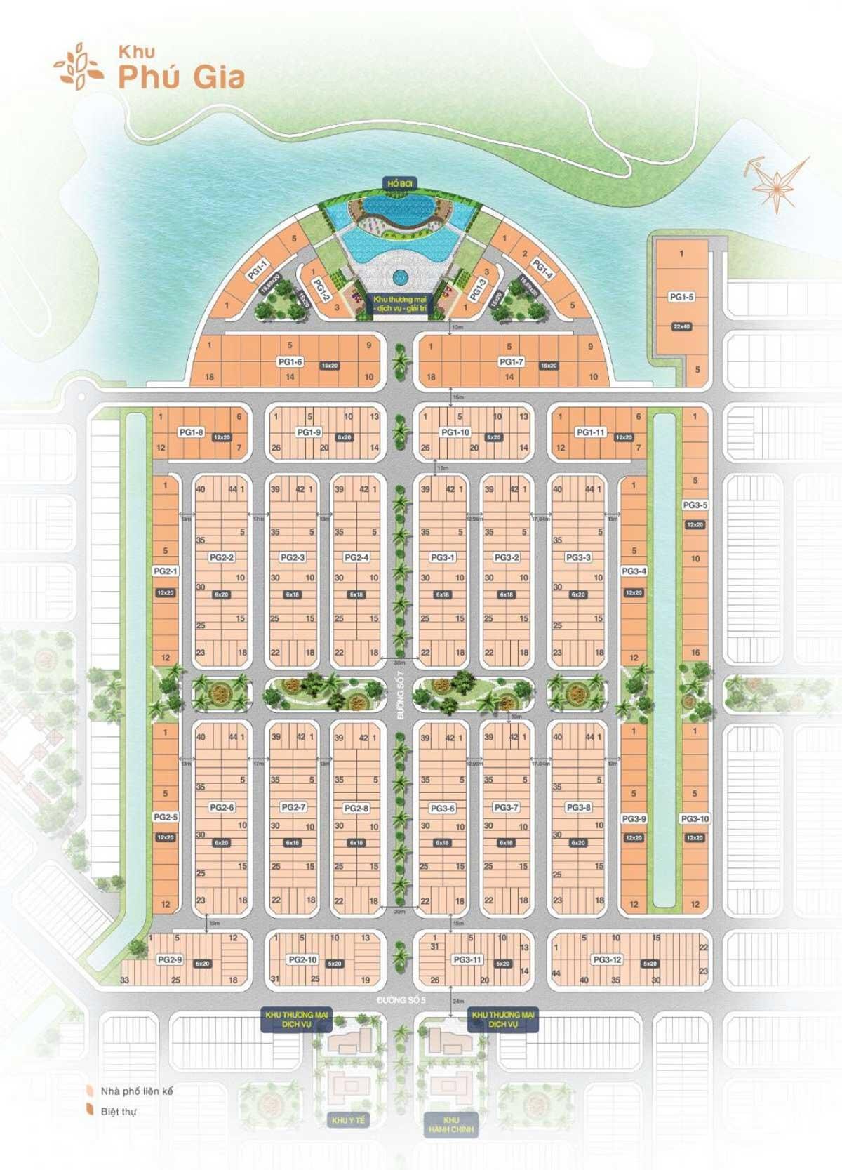 mat bang phan lo khu phu bien hoa new city - BIỆT THỰ BIÊN HÒA NEW CITY