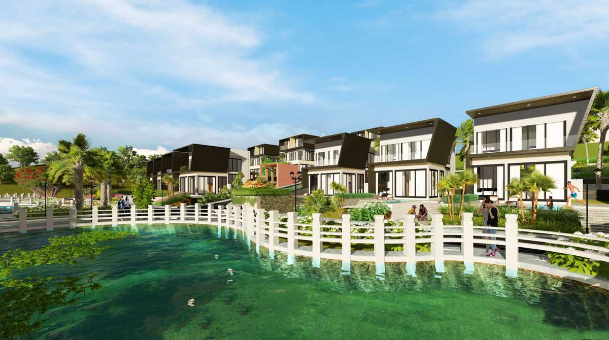 phoi canh biet thu view ho dambri hill village - ĐAMBRI HILL VILLAGE BẢO LỘC
