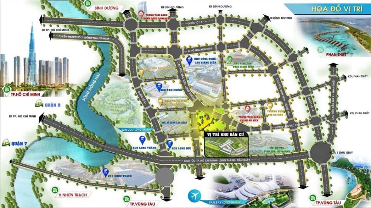 vi tri lavita city - DỰ ÁN LAVITA CITY ĐỒNG NAI