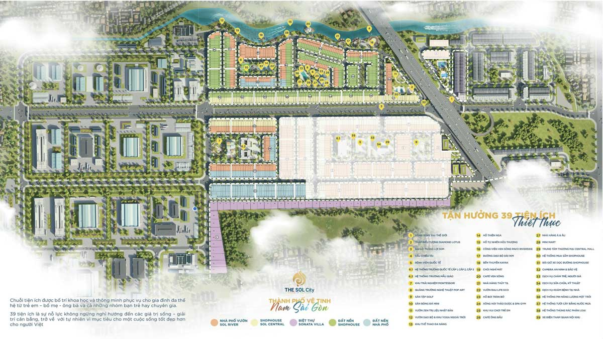 39 tien ich cao cap nhat the sol city - The Sol City
