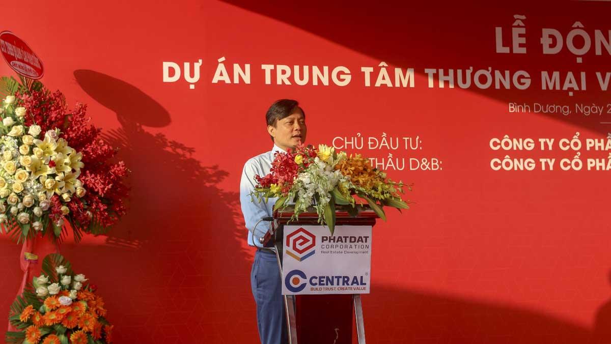 CEO Tran Quang Tuan phat bieu tai buoi Le - ASTRAL CITY
